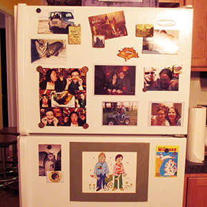 My fridge is cluttered on the outside and the inside!