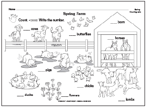 ... farm-themed counting fun! Click here to print this adorable worksheet