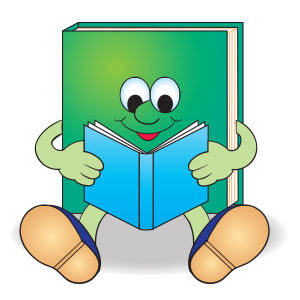 reading book guy