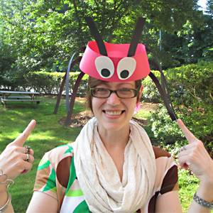 Ant headband-front view!