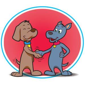 Blog-Dogs shaking hands