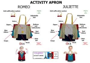 Romeo and Juliette Aprons