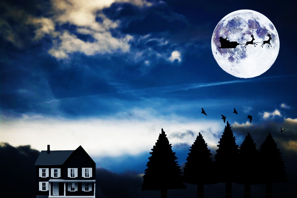A full moon and Santa? That's bad news.