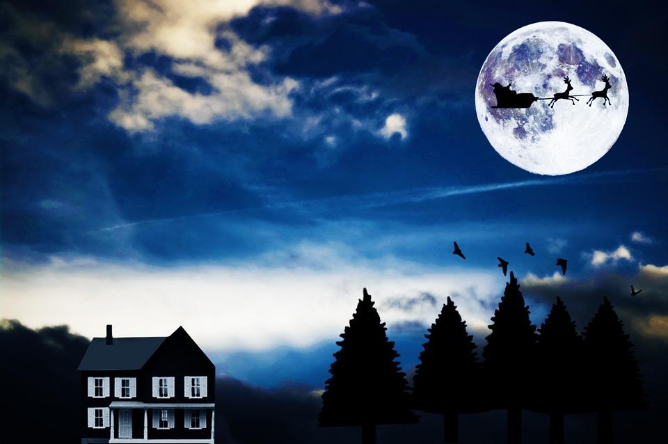 A full moon and Santa? That's bad news.