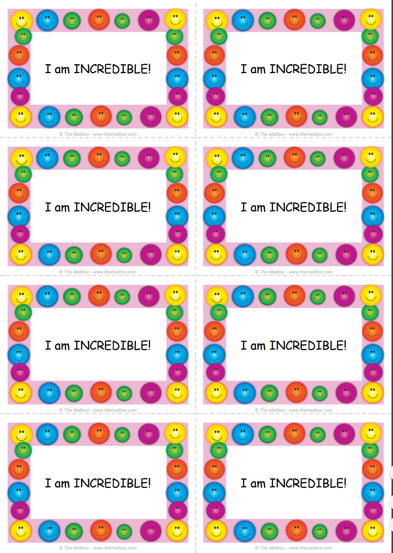 To make sure each student in your class is reminded of his or her incredibleness, give each kiddo you encourage one of these cards!