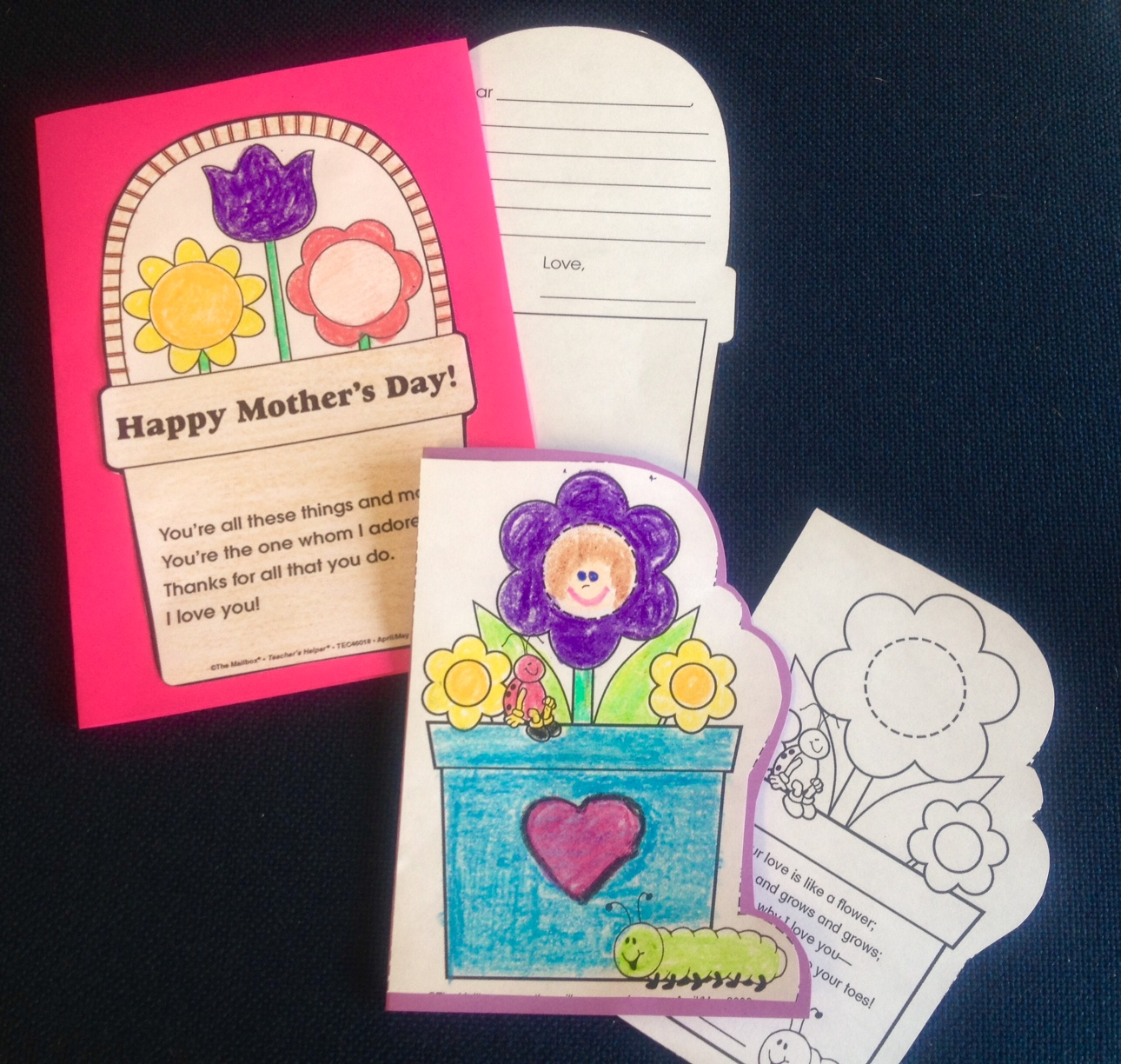 sweet and simple mother's day cards  the mailbox blog